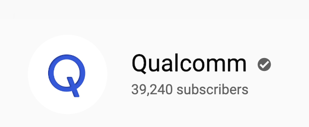 Qualcomm Youtube Verification Badge