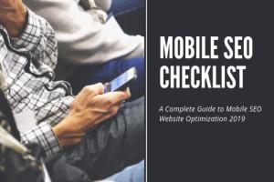 Mobile SEO Checklist 2019 | TimeZ Marketing