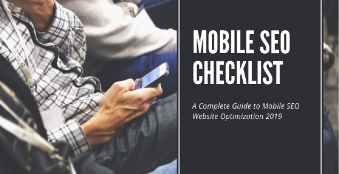 Mobile SEO Checklist 2019 | TimeZ Marketing