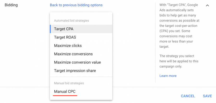 Manual CPC Bidding Strategy - TimeZ Marketing