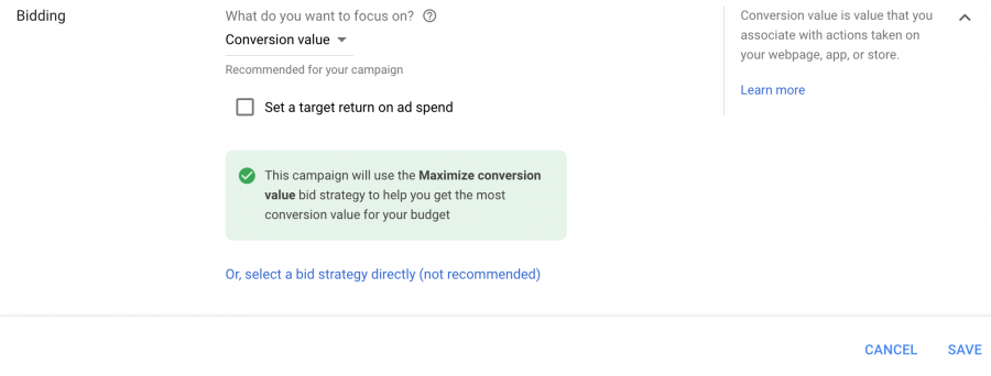 Maximize Conversion Value Smart Bidding Strategy | Google Ads