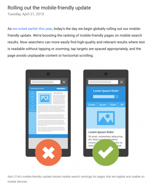 Mobile-friendly update - Google - TimeZ Marketing