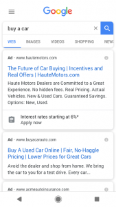 Lead form ads on Search