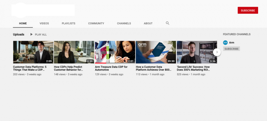 Example of Unstructured - YouTube Homepage
