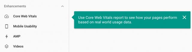 Google Search Console - Core Web Vitals